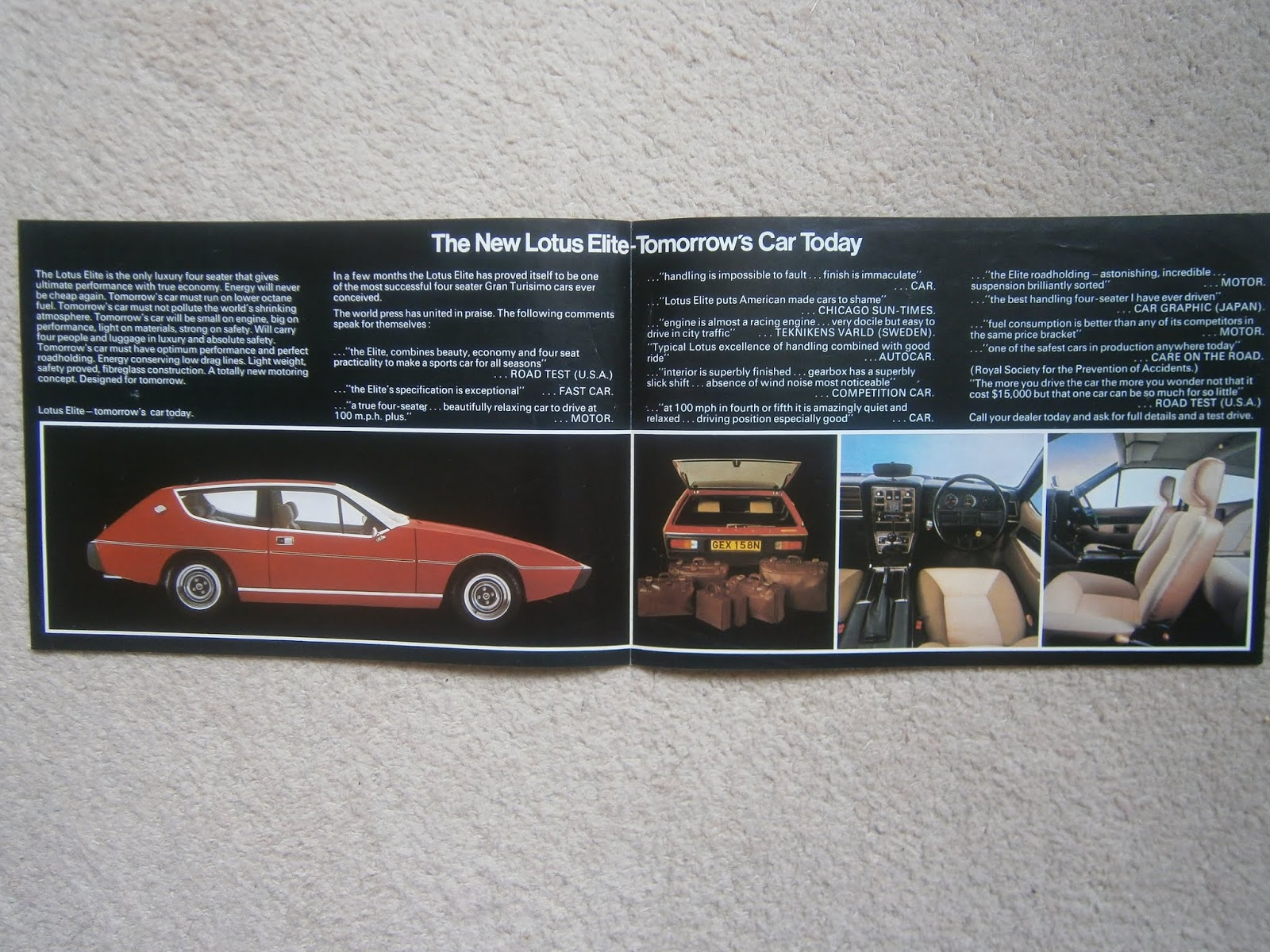 Lotus Excel Restoration May 2018 Hyundai Pony Wiring Diagram The Above Brochure Is A Mystery Its 4 Page Printed Spread Containing Only Material Although Print Quality High On Thinner