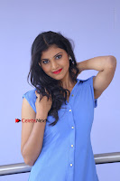 Telugu Actress Mounika UHD Stills in Blue Short Dress at Tik Tak Telugu Movie Audio Launch .COM 0079.JPG