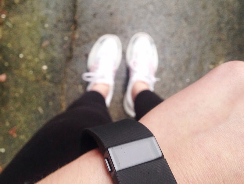 Wearing the Fitbit Charge while running