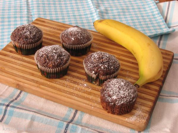 Muffinki czekoladowo - bananowe wg Nigelli :)