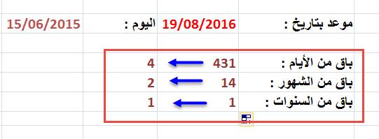 تحديد اليوم و الشهر و السنة بالتدقيق