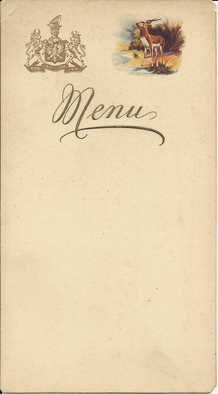Jain Food Menu Card