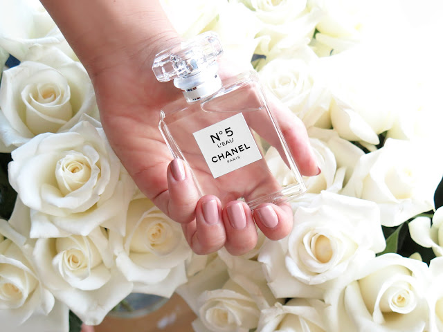Chanel N°5 L'Eau Perfume with Roses