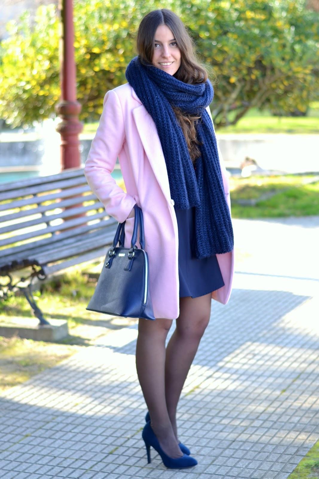 outfits abrigo rosa choies