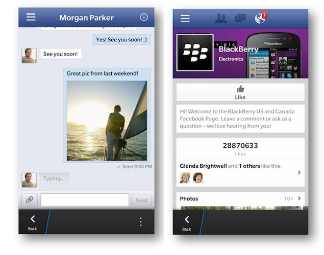 تحميل فيس بوك بلاك بيري 10 مجانا Facebook for BlackBerry 10
