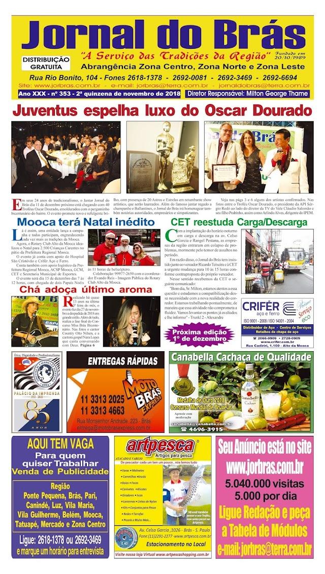 Destaques da Ed. 353 - Jornal do Brás