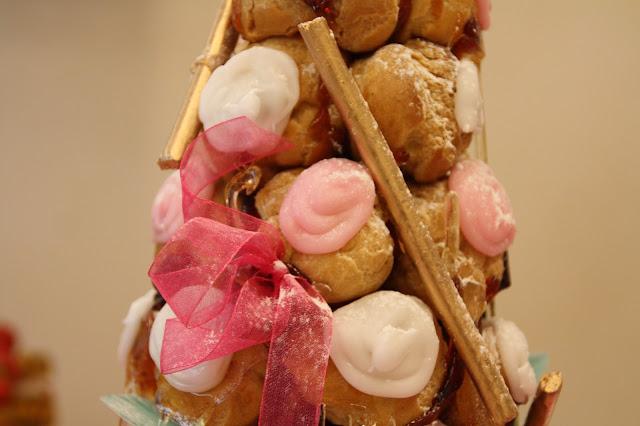 piece montee choux rose et blanc