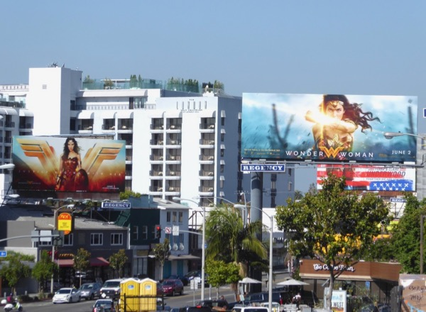 Wonder Woman movie billboards
