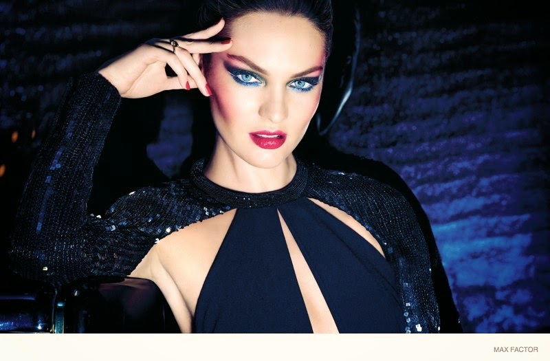 Max Factor Beauty Christmas 2014 Campaign featuring Candice Swanepoel
