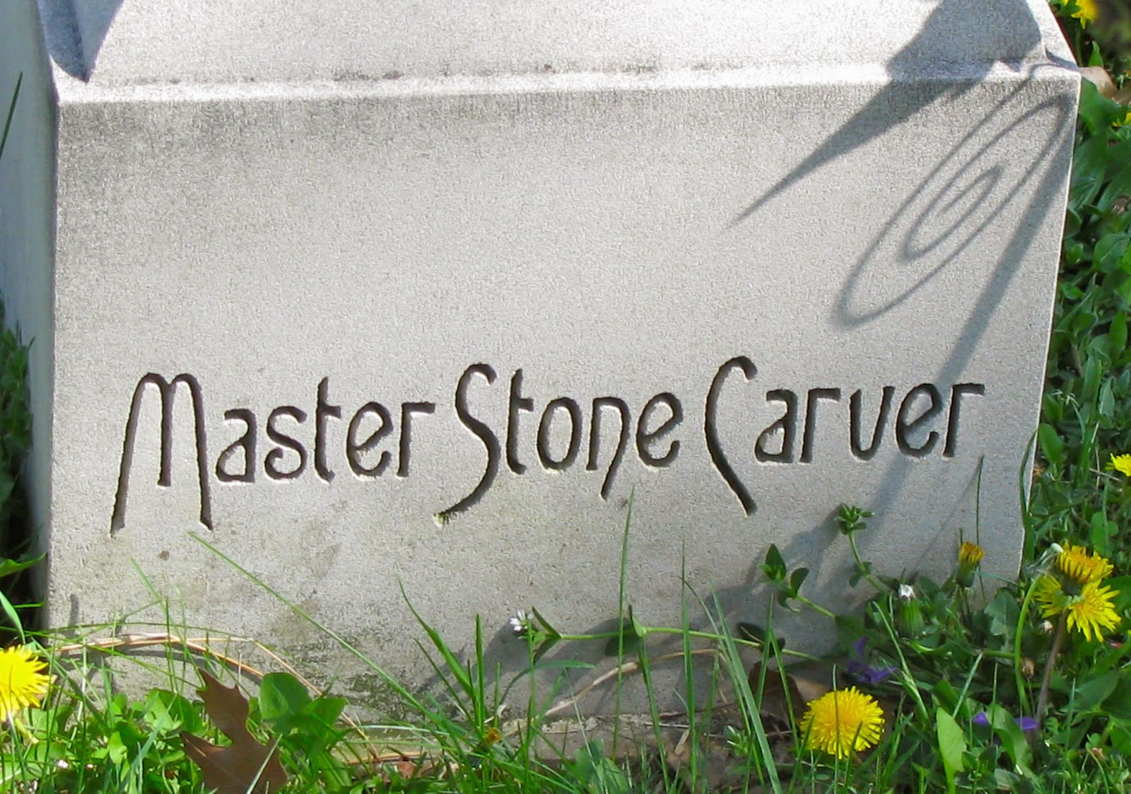 A grave interest dying art stone carvers of the cemetery