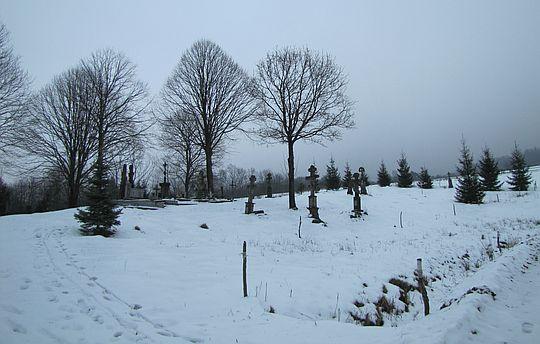 Cmentarz przycerkiewny w Świątkowej Małej.