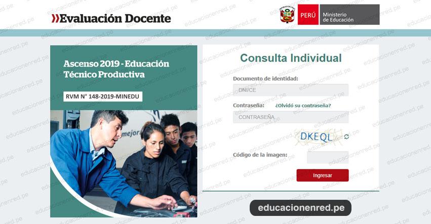 MINEDU: Resultados Preliminares de la Segunda Fase del Concurso de Ascenso - Educación Técnico Productiva - ETP 2019 (22 Noviembre) www.minedu.gob.pe