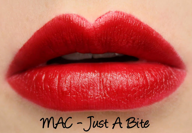 MAC MONDAY | Indulge - Just A Bite Lipstick Swatches & Review