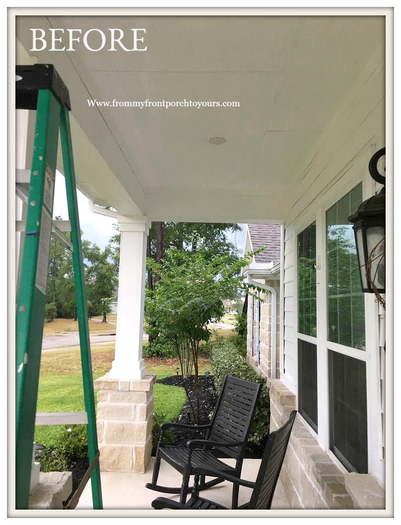 Porch Ceiling Makeover Haint Blue