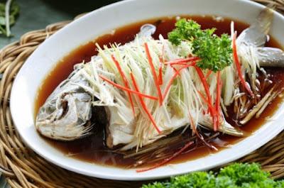 Gambar Resep Ikan Tim Kerapu Khas Hongkong Enak