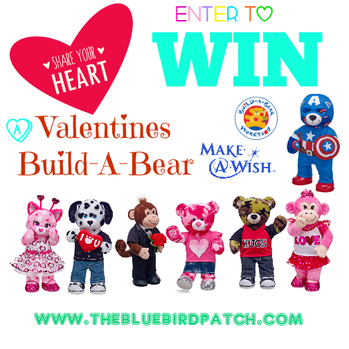 "GIVEAWAY: Build-A-Bear Workshop® Aligns with Make-A-Wish® to ""Share Your Heart"" for Valentine's Day 