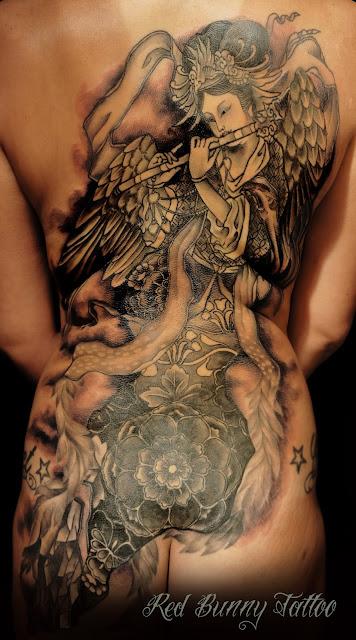 迦陵頻伽 カリョウビンガ タトゥー TATTOO 刺青