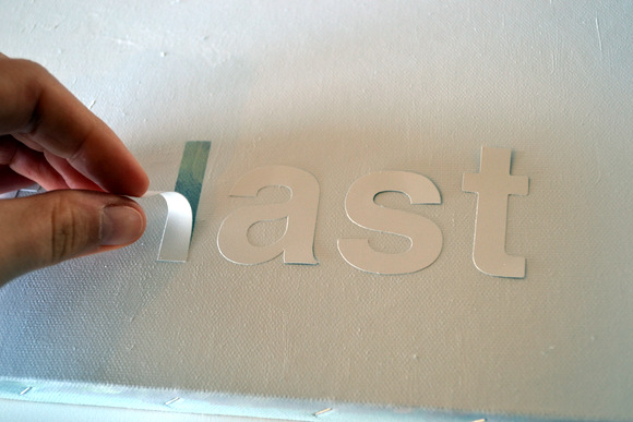 Peeling letters off of canvas
