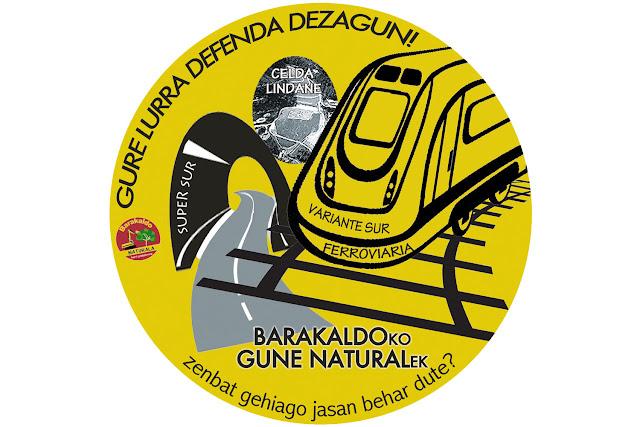 Imagen de la campaña contra el puente ferroviario proyectado en Gorostiza