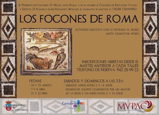 """Taller """"Los fogones de roma"""" en el MVPAC"""