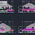 مخطط منزل بطابق واحد اوتوكاد dwg