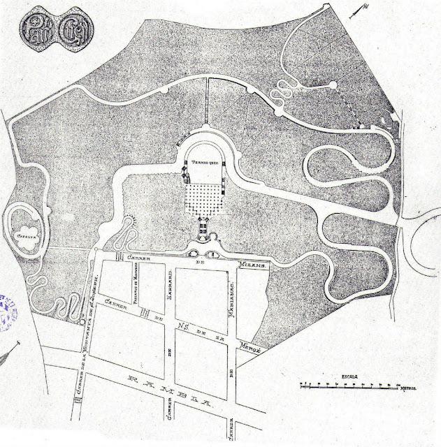 Park Güell. Plano principal original