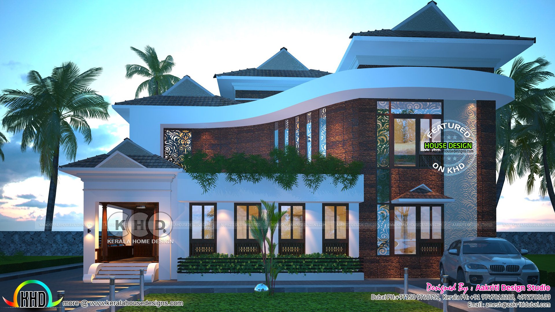 Modern style 4 bhk home design architecture
