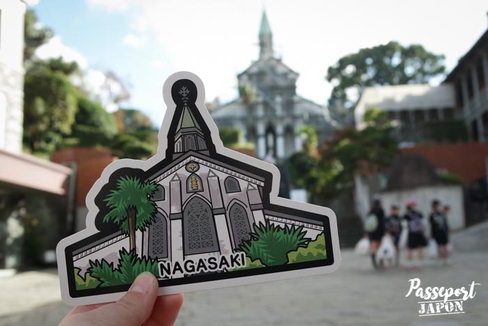 Gotochi card challenge, église d'Ôura, Nagasaki, Kyushu