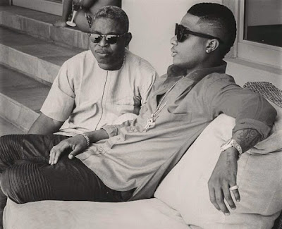 Wizkid with manager Sunday Are