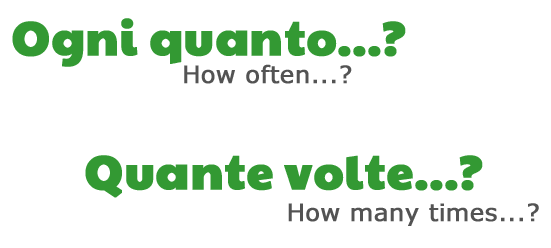 Ogni quanto? (How often?), Quante volte? (How many times?) by ab for viaoptimae.com