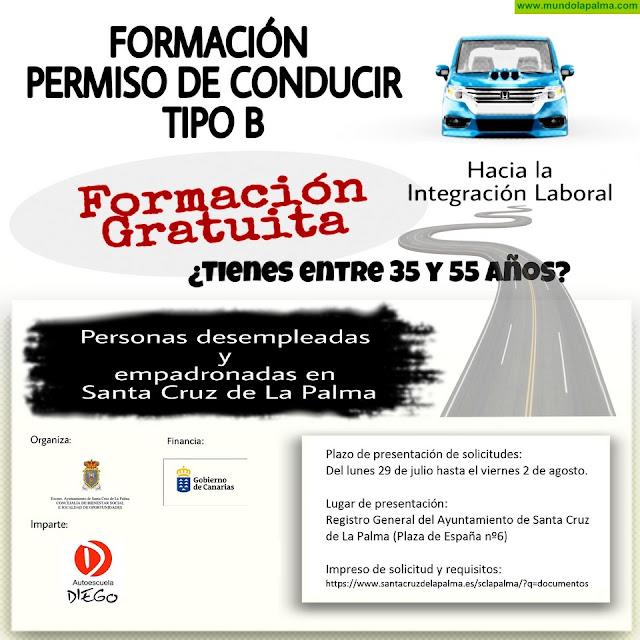 El Ayuntamiento de Santa Cruz de La Palma posibilitará la obtención del permiso de conducir B a 20 personas