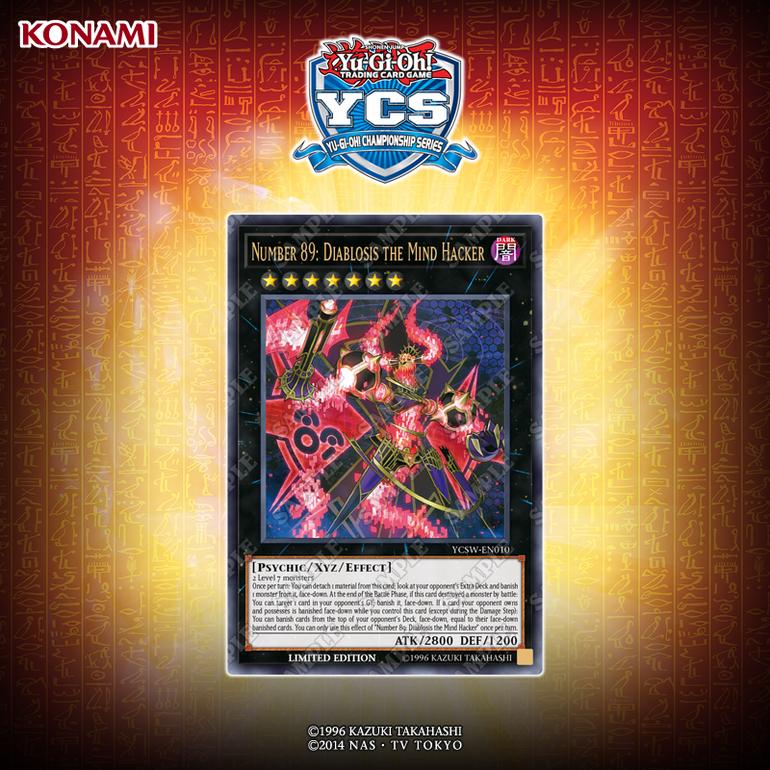 Yu-gi-oh!  presenta su nueva carta premio, Number 89: Diablosis the Mind Hacker