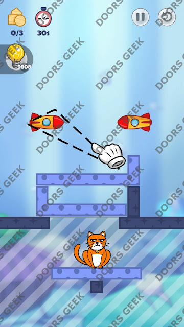 Hello Cats Level 124 Solution, Cheats, Walkthrough 3 Stars for Android and iOS
