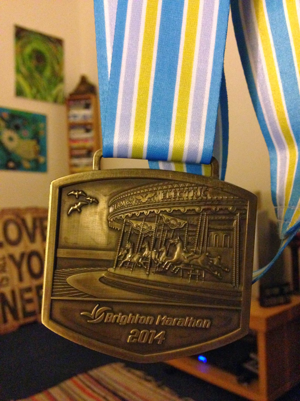 Brighton Marathon 2014 finishers medal