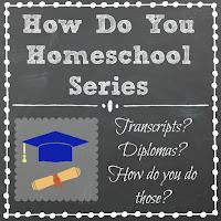 Transcripts? Diplomas? How Do You Do Those? Part of the How Do You Homeschool series on Homeschool Coffee Break @ kympossibleblog.blogspot.com