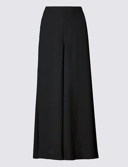 Marks and Spencer Crepe Super Cropped Wide Leg Culottes