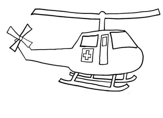 Tranh tô màu máy bay trực thăng cấp cứu