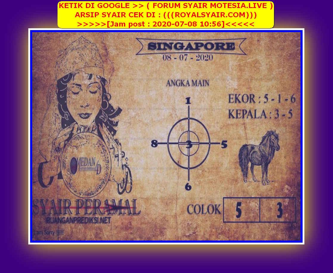 Kode syair Singapore Rabu 8 Juli 2020 112