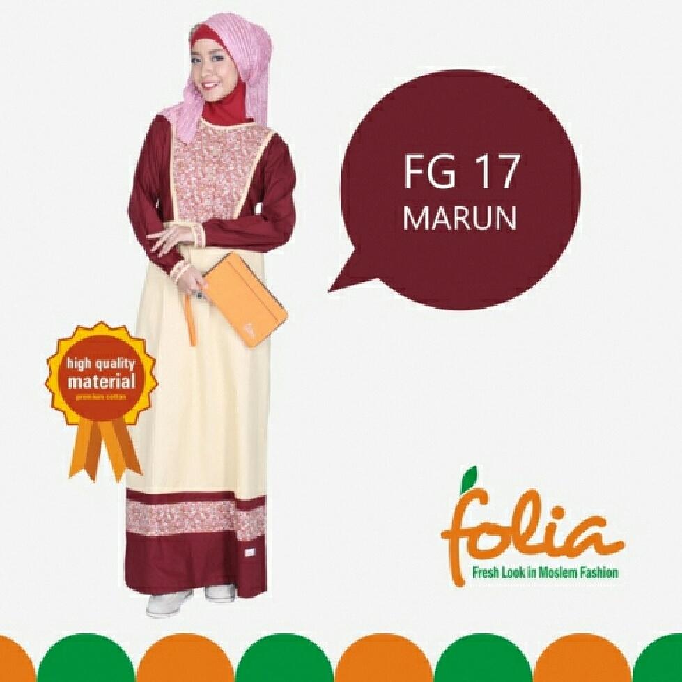 Farah Shop Solo Folia Fg 17 Gamis Katun