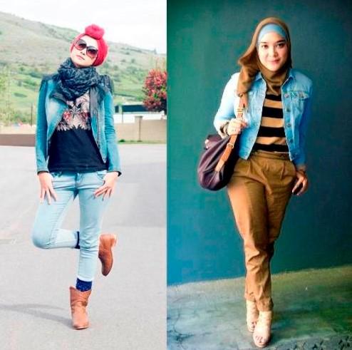 fashion hijab remaja modern