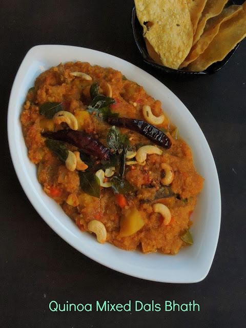 Quinoa Sambar bhath, Quinoa Dal Bhath.jpg