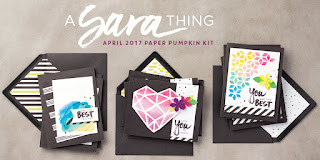 "April 2017 Paper Pumpkin: ""A Sara Thing"" Card Designs"