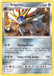 Solgaleo Guardians Rising Pokemon Card