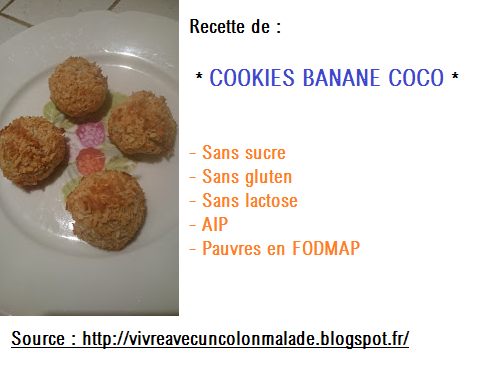 cookies AIP pauvres en FODMAP