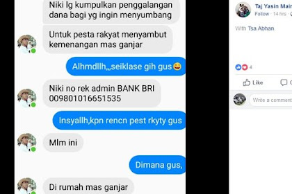 Bikin Geger, Akun Palsu FB 'Taj Yasin Maimoen' Minta Sumbangan