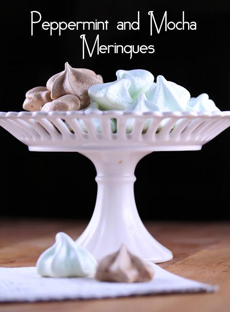 Peppermint & Mocha Meringues | sweetpeasandsaffron.com