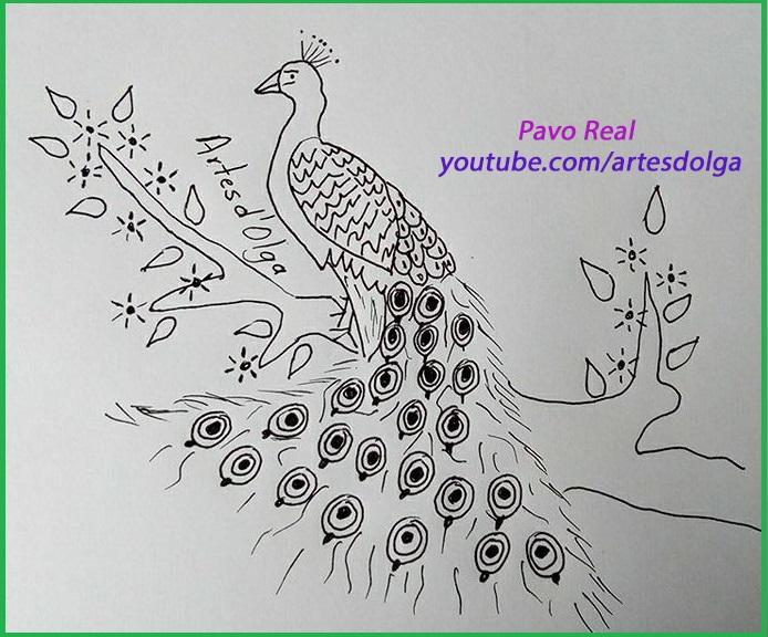 best Dibujos De Pavo Real Para Bordar image collection