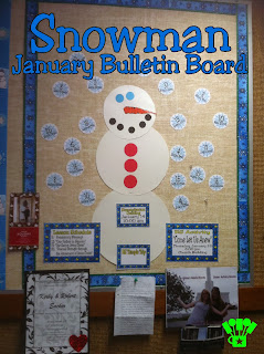 Snowman Bulletin Board and Printables by Kims Kandy Kreations