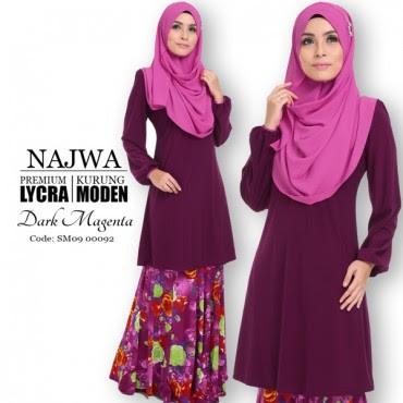 Baju Kurung Najwa Menyerlahkan Kecantikan Wanita Diana Rashid
