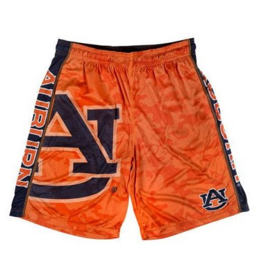 Review for a Branded NCAA Sports Apparel – Camo Shorts with a big NCAA Logo